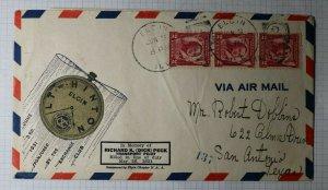 US Event Pilot Ad Cover Natl Exchange Club Elgin FL 1931 Aviation Tour NC-4