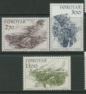 STAMP STATION PERTH Faroe Is.#149-151 Pictorial Definitive Iss. MNH 1986 CV$9.00