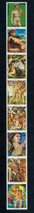 [72741] Paraguay 1975 Paintings Michelangelo Fresco Strip of 8 Folded MNH