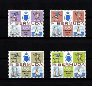 BERMUDA - 1968 - QE II - OLYMPICS - MEXICO - SAILBOAT - YACHT + MINT - MNH SET!