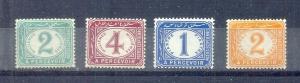 EGYPT- 1889 Postage Due SC # J15 - J18 MH
