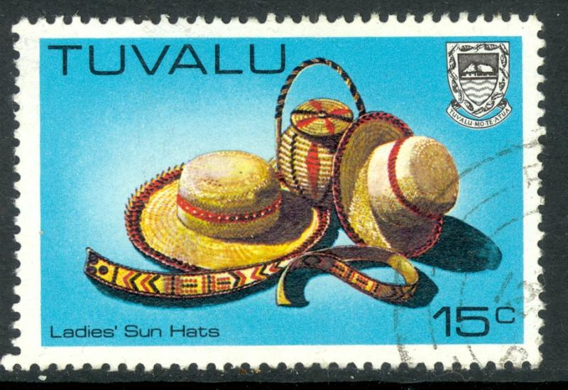 TUVALU 1983-84 15c Ladies Sun Hats Handicrafts Issue Sc 186A VFU