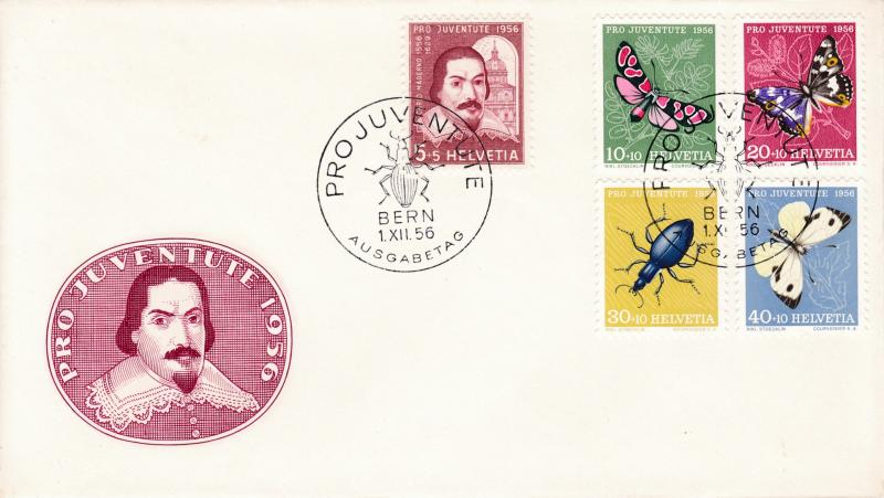 Switzerland 1956 Pro Juventute Complete (5) First Day Cover Not Addressed