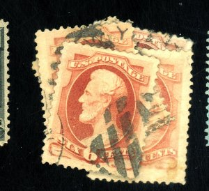 186 (5) USED F-VF 4 WITH SM THINS Cat $113