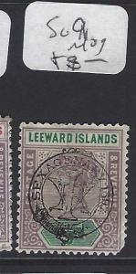 LEEWARD ISLANDS (P1610B)  QV   1/2 D TERCENT  SG 9    MOG