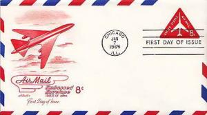 United States, First Day Cover, Airmail, Postal Stationery