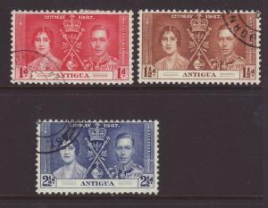 1937 Antigua Coronation Set F/U SG95/97