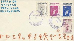 COSTA RICA PAINTINGS,PRO-CIUDAD de los NIÑOS, Sc RA77-RA80 FDC 1978