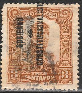 MEXICO 530, 3c CORBATA & $ REVOLUTIONARY OVERPRINTS USED. F-VF. (1530)