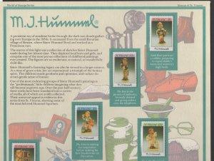 Limited Edition MJ Hummel Panel of 8 stamps