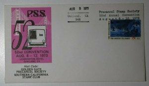 PSS Convention Lexington Hotel Oakland CA 1973 Philatelic Expo Cachet Cover