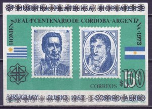 Uruguay. 1973. bl18. Stamps on stamps. MNH.
