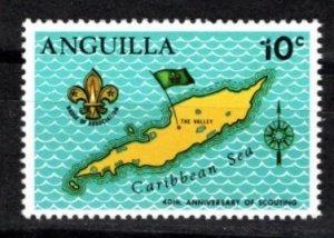 Anguilla 1970 Sc 95-8 MNH Commemorative Perforate  Broken '1' Variety