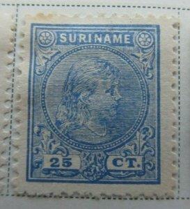 Surinam 1892-93 25c Fine MNG A13P9F940