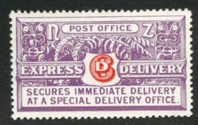 New Zealand Scott E1 MH* 1926 special delivery stamp CV$60