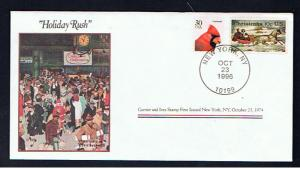 NORMAN ROCKWELL COMMEMORATIVE COVER HOLIDAY RUSH