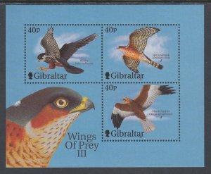 Gibraltar 889d Birds Souvenir Sheet MNH VF