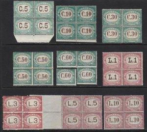 1897-1919 San Marino, Vat N°1/9 Series IN Quartina MNH