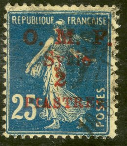 SYRIA 1920-22 2pi on 25c Sower Issue Sc 40 VFU