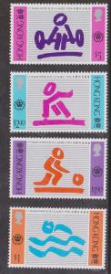 Hong Kong - 1994 Commonwealth Games Set VF-NH Sc. #703-706