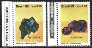 Brazil. 1989. 2312-13. Minerals, geology. MNH.