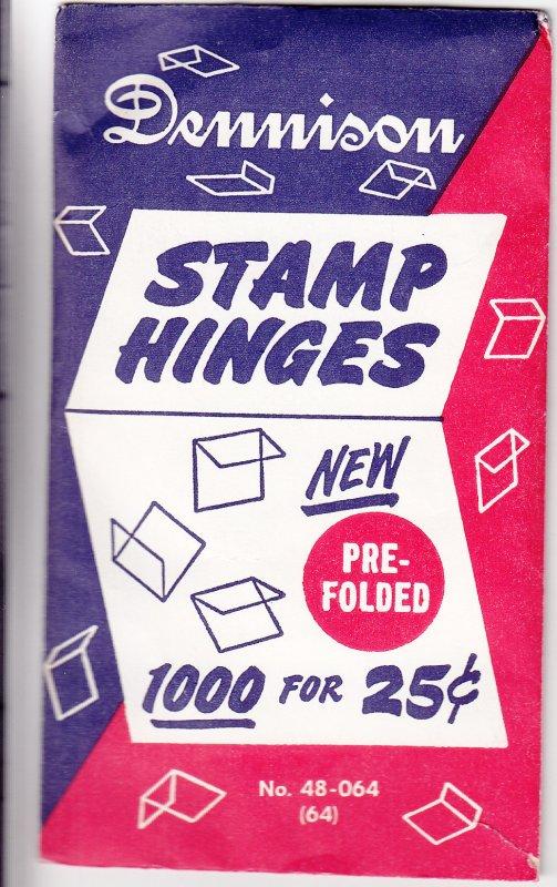 Dennison Prefolded Stamp Hinges, Unopened (S18534)