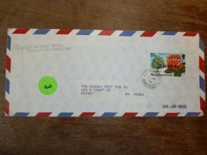 Montserrat  1976 OHMS 20c flower A/M cover to USA (59bea)