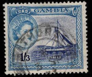GAMBIA Scott 161 Used  QE2  Stamp 1953