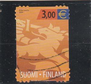 Finland  Scott#  1210  Used  (2004 Heraldic Lion)