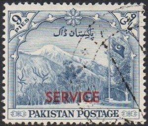 Pakistan 1954 9p Gilgit Mountains 'Official' used