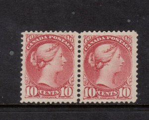Canada #45a Very Fine Mint Unused (No Gum) Pair **With Certificate**
