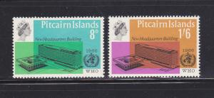 Pitcairn Islands 62-63 Set MNH WHO