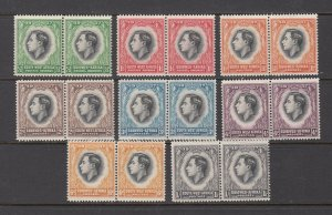 SOUTH WEST AFRICA ( NAMIBIA) SC# 125-132 PAIR AS ISSUED - MH