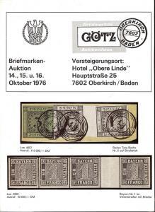 Gotz: Sale # 4  -  Briefmarken-Auktion #4, Jurgen Gotz  O...