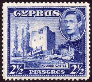 Cyprus 1938 2½pi Ultramarine SG156 MH