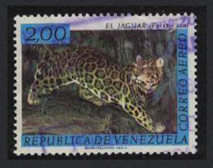 Venezuela Jaguar 2B KEY VALUE 1963 Canc SC#C825 SG#1777