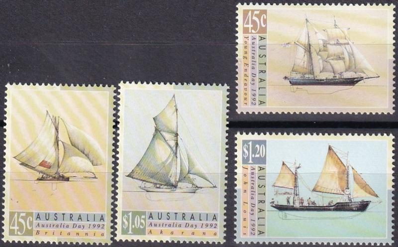 Australia #1249-52 MNH  CV $5.45  (A19779)