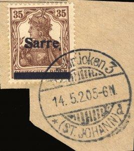 SARRE / SAARGEBIET - 1920 Saarbrücken 3 / * (ST. JOHANN) d cds /Mi.11.I 35pf
