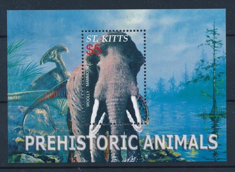[36037] St. Kitts 2005 Pre Historic Animals Dinosaurs MN Sheet