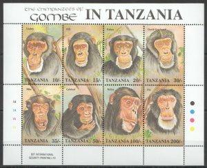 Tanzania MNH S/S Chimpanzees