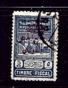 Syria RA4 Used 1945 overprint