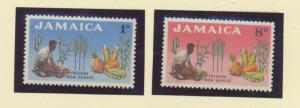 Jamaica Scott #201 To 202, Mint Never Hinged MNH, Freedom From Hunger Issue F...