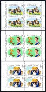 FALKLAND ISLANDS 254a-256a MNH XF BOOKLET PANES/3 SCV $14.40 BIN $8.50 ROYALTY