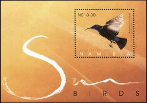 Namibia. 2005. Sunbirds in Namibia (MNH OG) Souvenir Sheet