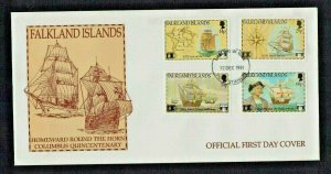 Falkland Is: 1991, 500th Anniversary Columbus Discovery of America, FDC