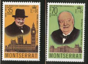 Montserrat Scott 312-313 MNH** 1974  Churchill set CV$0.80