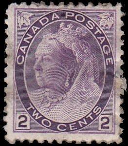 Canada Scott 76 Queen Victoria Used