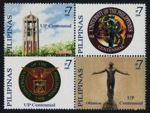Philippines 3163,3163a MNH University of Philippines, Crest, Architecture