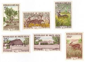 Upper Volta #97-102 animals MH complete