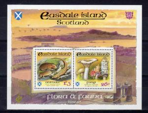 Easdale Island (Scotland) 1991 Mushrooms/Rodens/Reptiles Compound S/S MNH
